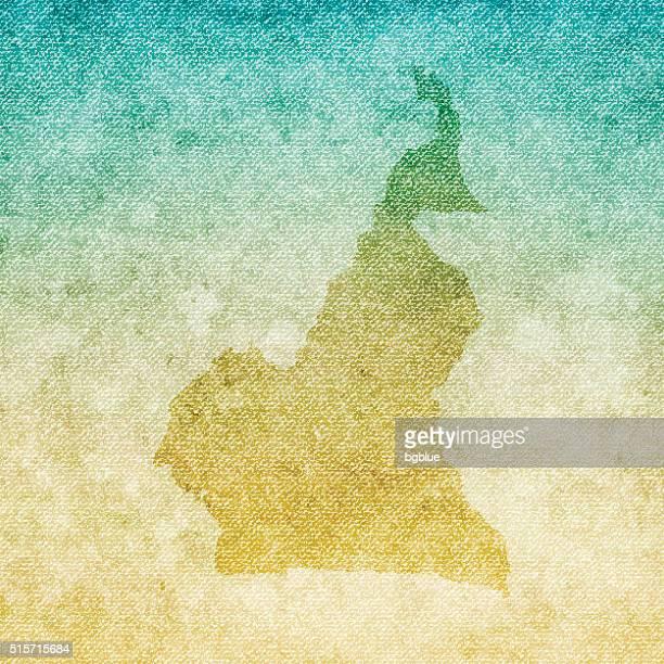 Kamerun Weltkarte auf grunge-Leinwand Hintergrund