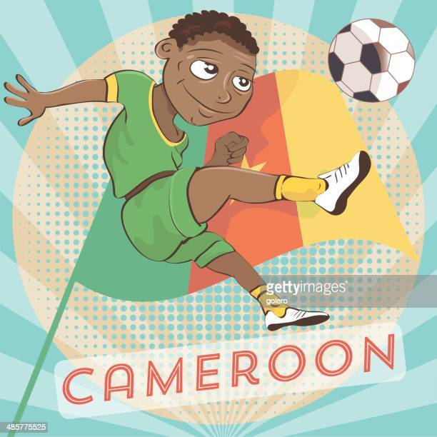 cameroon player - cameroon stock illustrations, clip art, cartoons, & icons