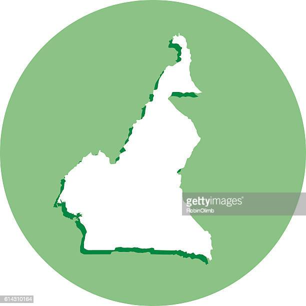 cameroon round map icon - cameroon stock illustrations, clip art, cartoons, & icons