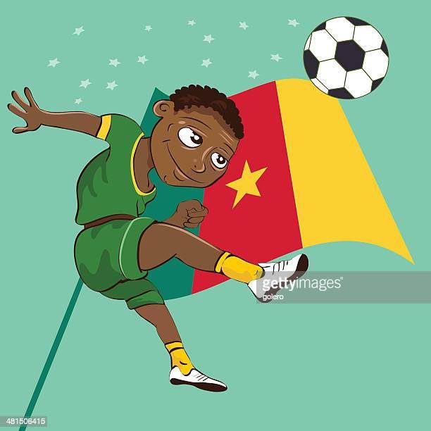 cameroon soccerboy - cameroon stock illustrations, clip art, cartoons, & icons