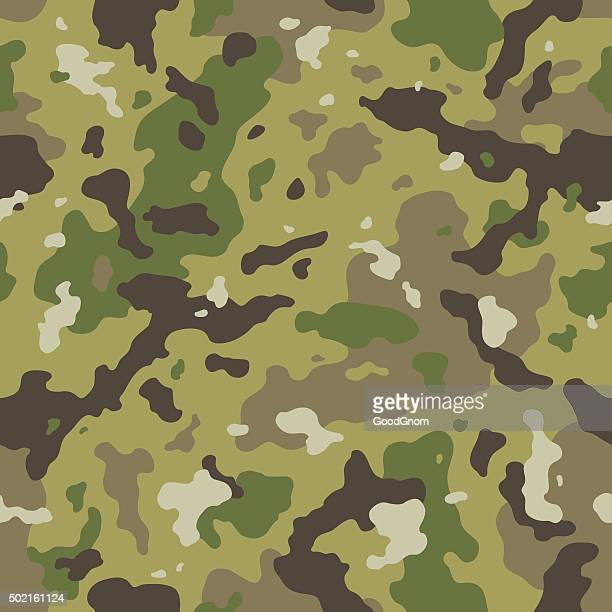 camo seamless pattern - camouflage stock illustrations
