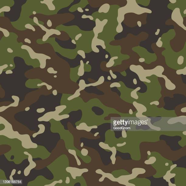 camouflage forest seamless pattern - camouflage stock illustrations
