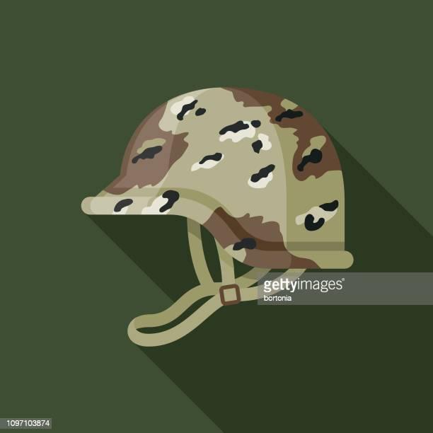camouflage helmet military icon - army helmet stock illustrations, clip art, cartoons, & icons