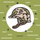 Camouflage Helmet Military Icon
