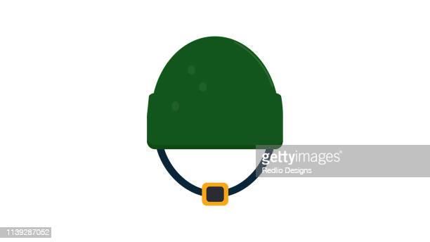 camouflage military helmet icon - us marine corps stock illustrations, clip art, cartoons, & icons
