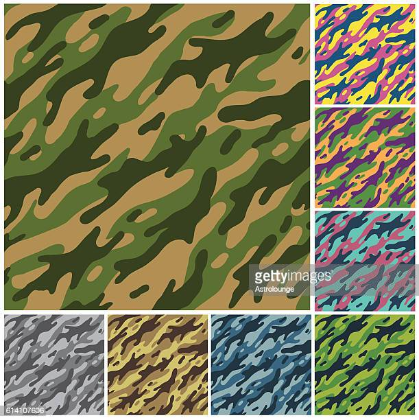 camouflage patterns - camouflage stock illustrations