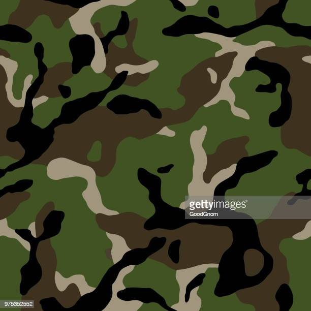 camouflage seamless military - camouflage stock illustrations
