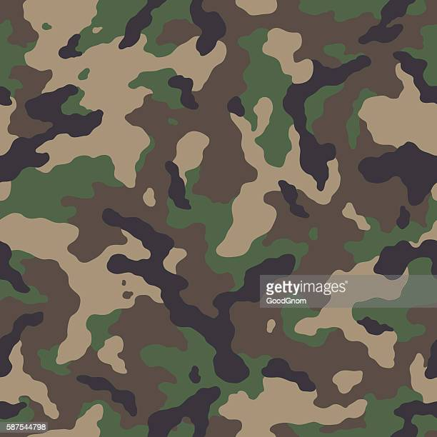 camouflage seamless pattern - military personnel stock illustrations, clip art, cartoons, & icons