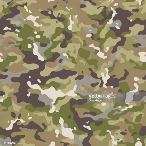 camouflage seamless - camouflage stock illustrations