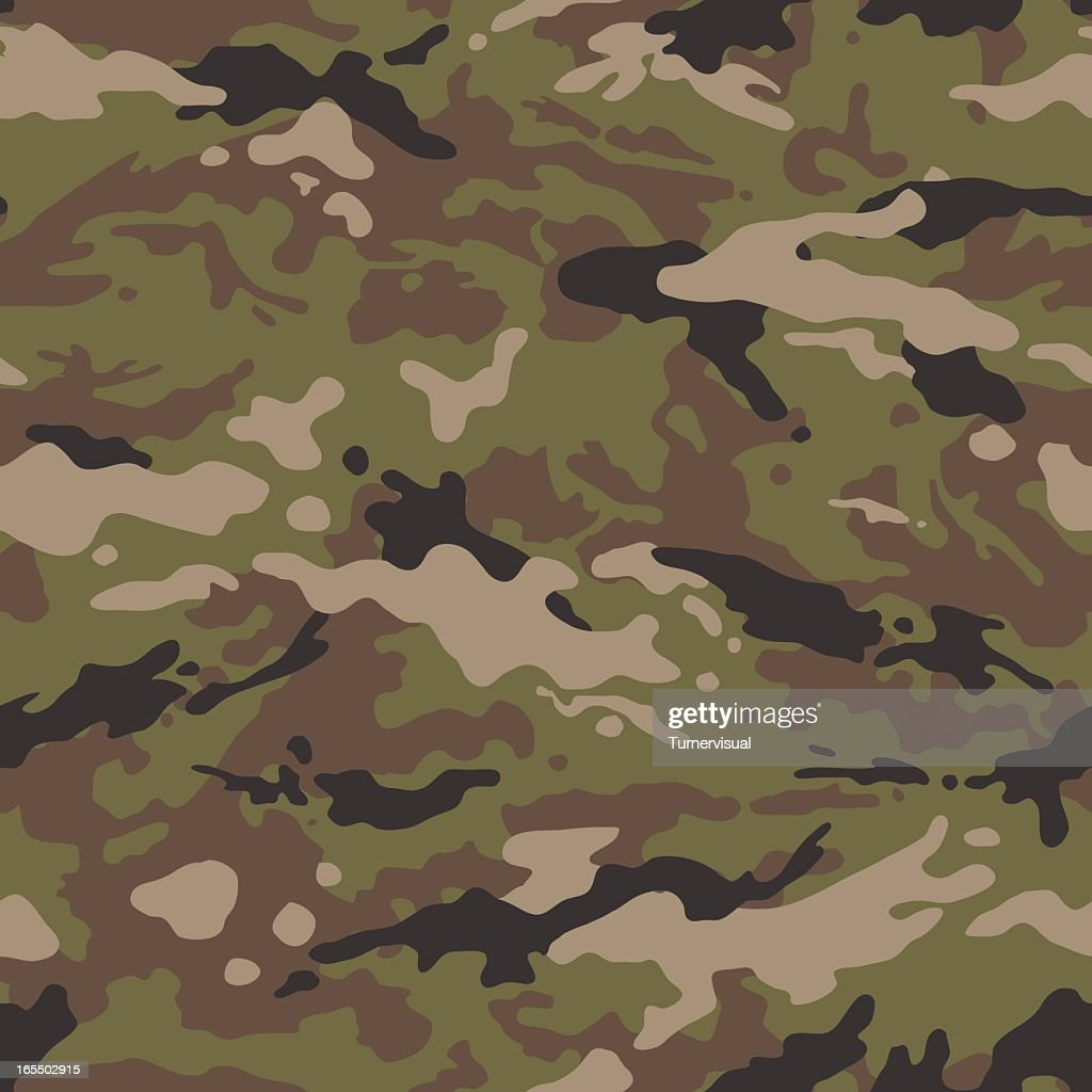 Camouflage Vector - Seamless Tile (US Multi)