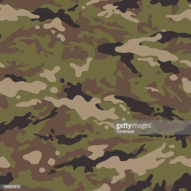 camouflage vector - seamless tile (us multi) - camouflage stock illustrations