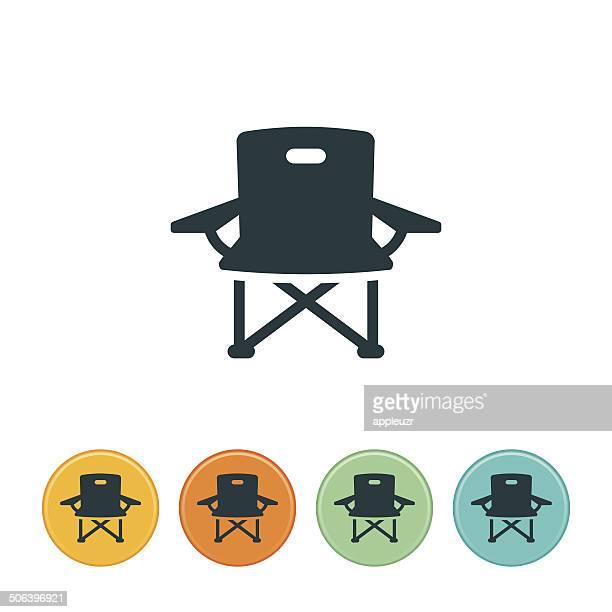 キャンプ椅子のアイコン - アウトドアチェア点のイラスト素材/クリップアート素材/マンガ素材/アイコン素材