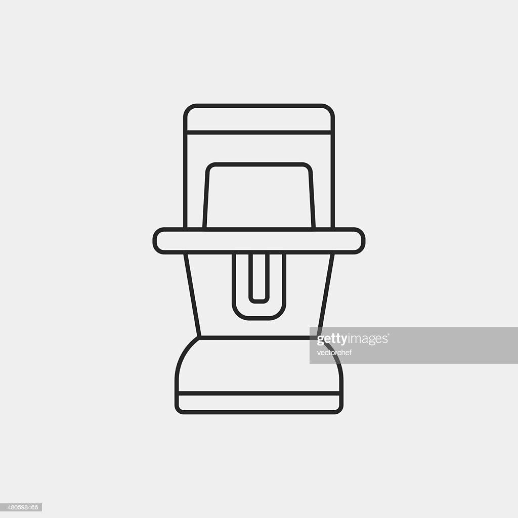 camp light line icon : Vector Art