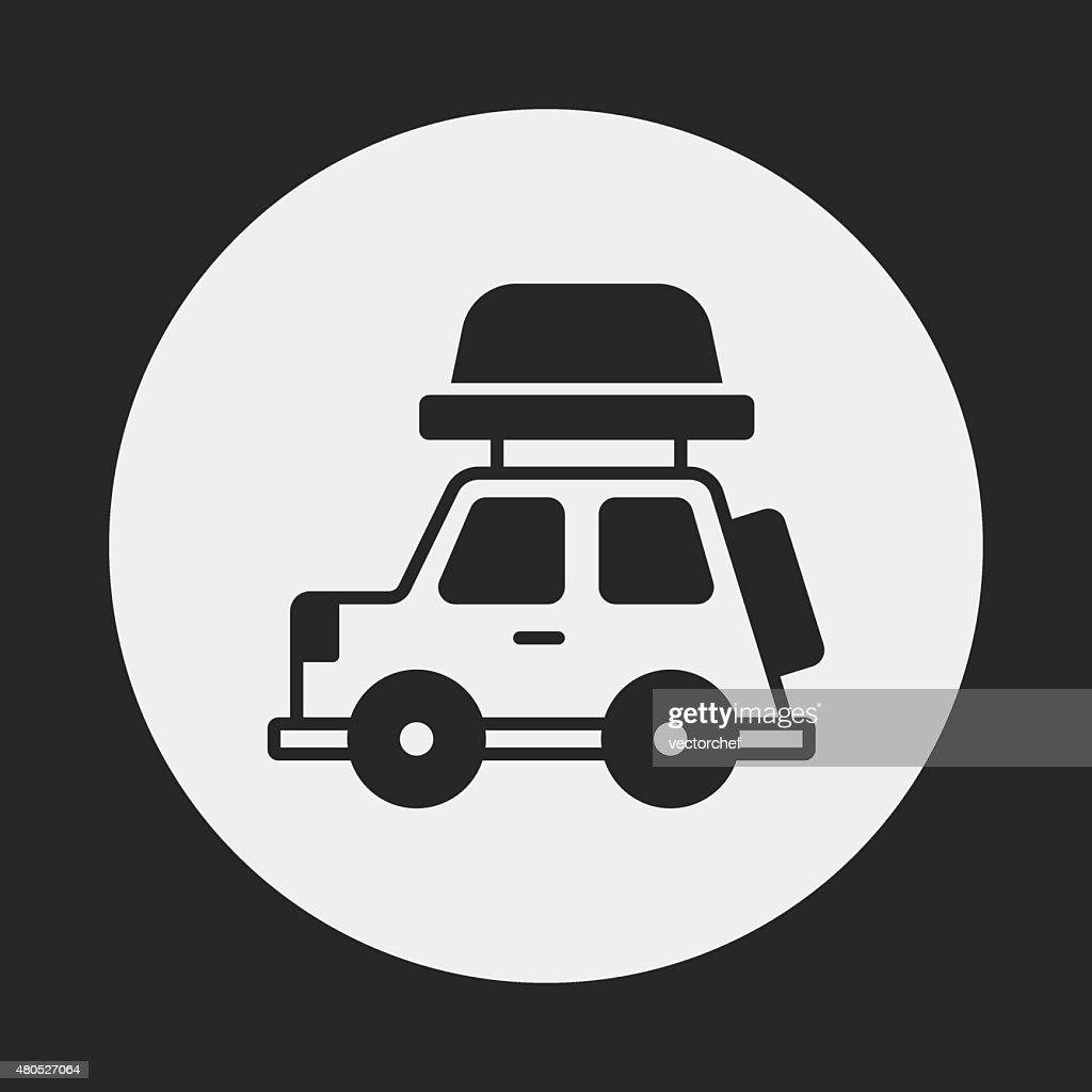 Camper van icon : Vectorkunst