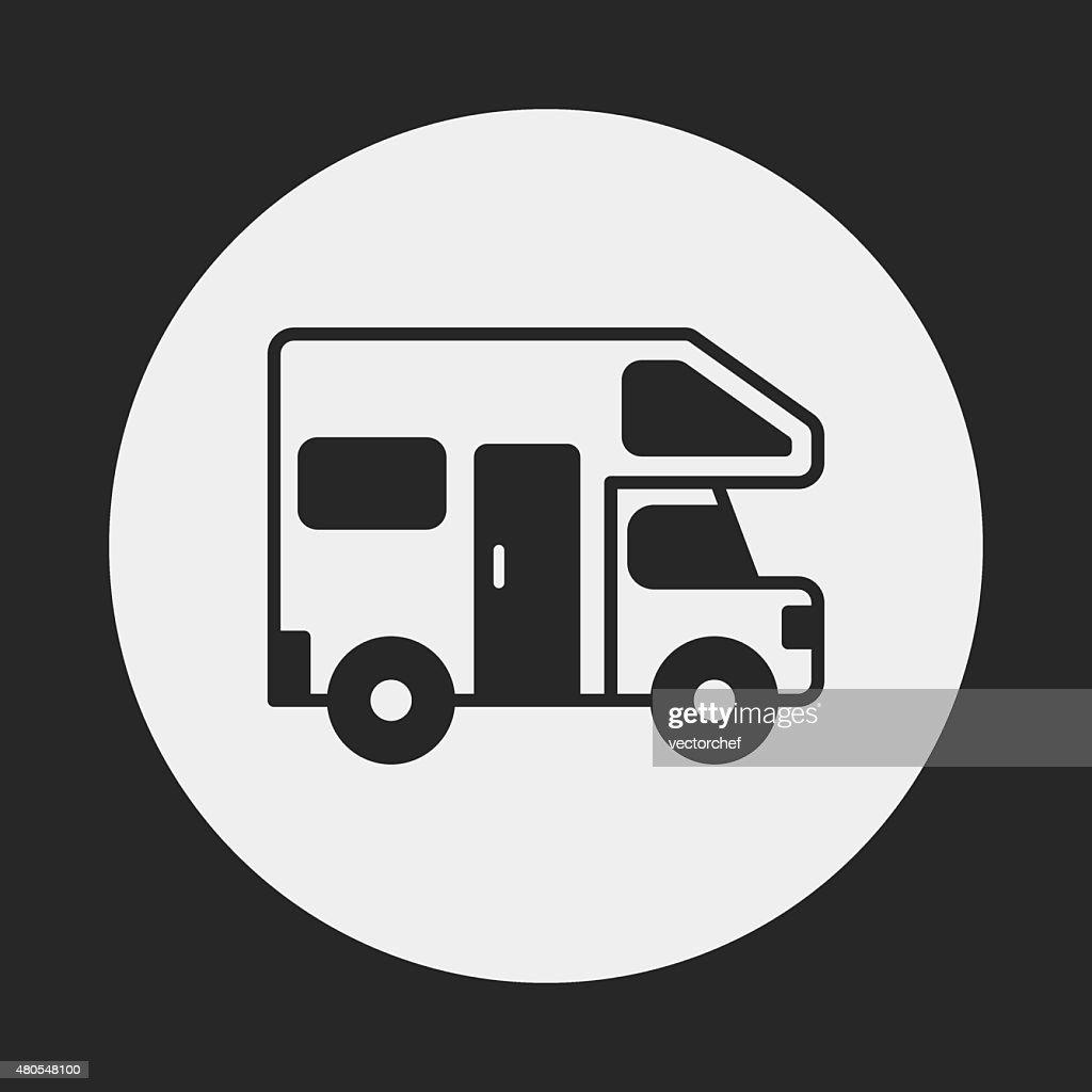 Caravanas de van ícone : Arte vetorial