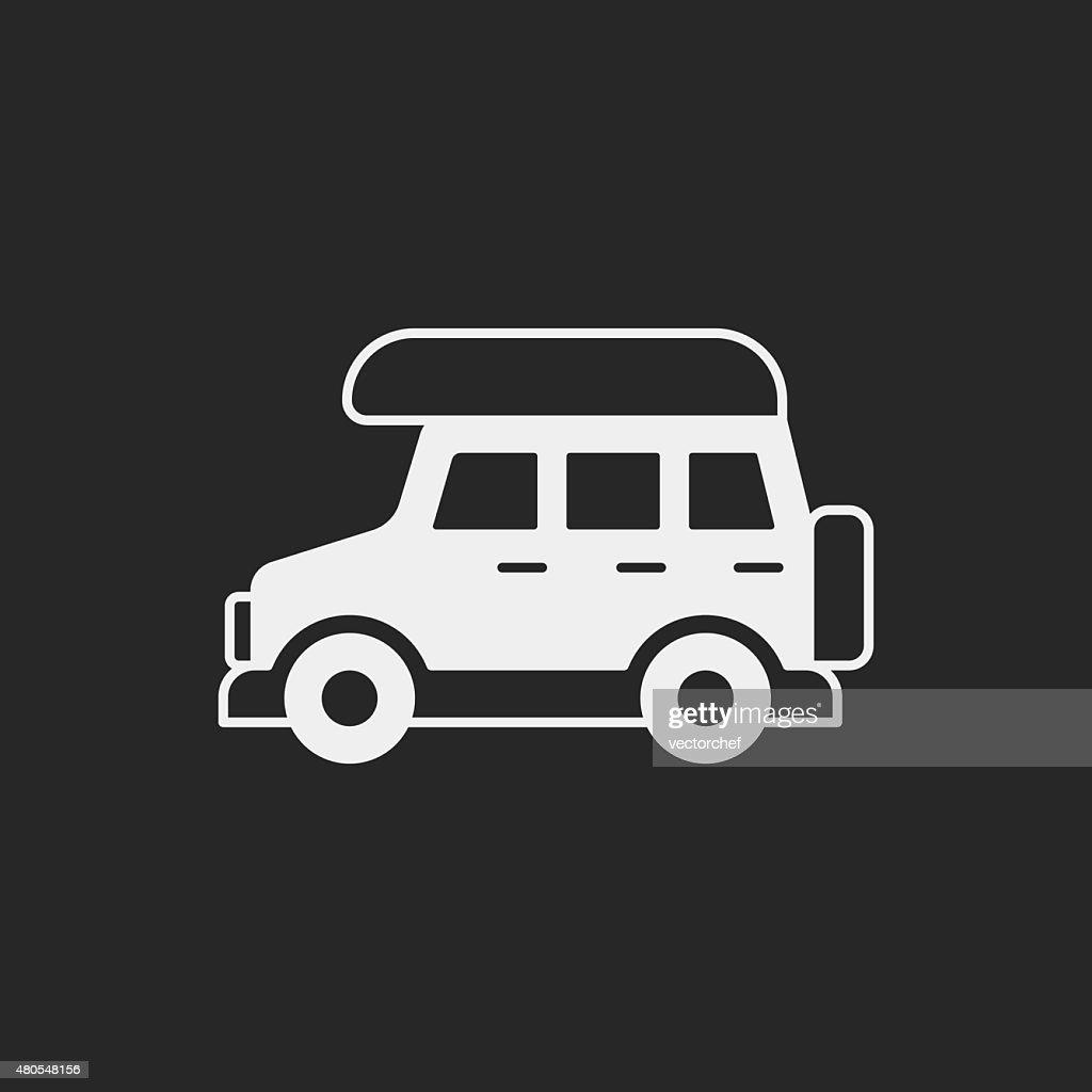 Camper van Symbol : Vektorgrafik
