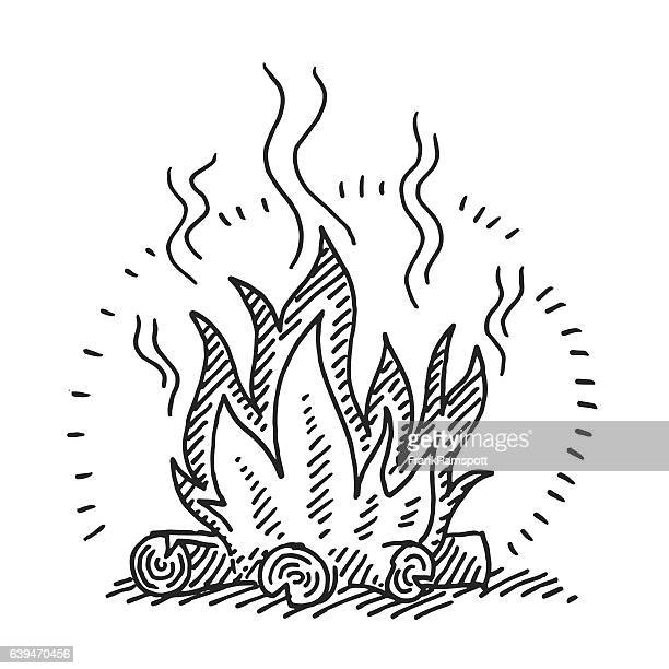 illustrations et dessins anim s de feu de camp getty images. Black Bedroom Furniture Sets. Home Design Ideas