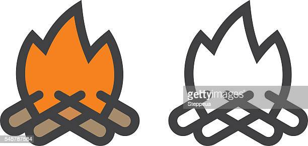 60 meilleurs feu de camp illustrations cliparts dessins anim s et ic nes getty images - Dessiner le feu ...