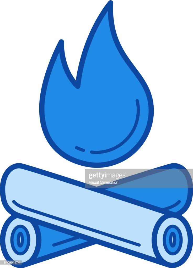 Campfire line icon