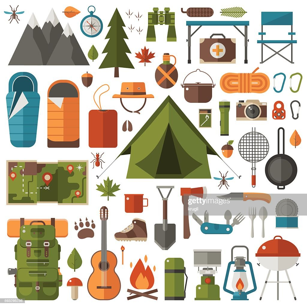 Camping and Hiking Equipment Set