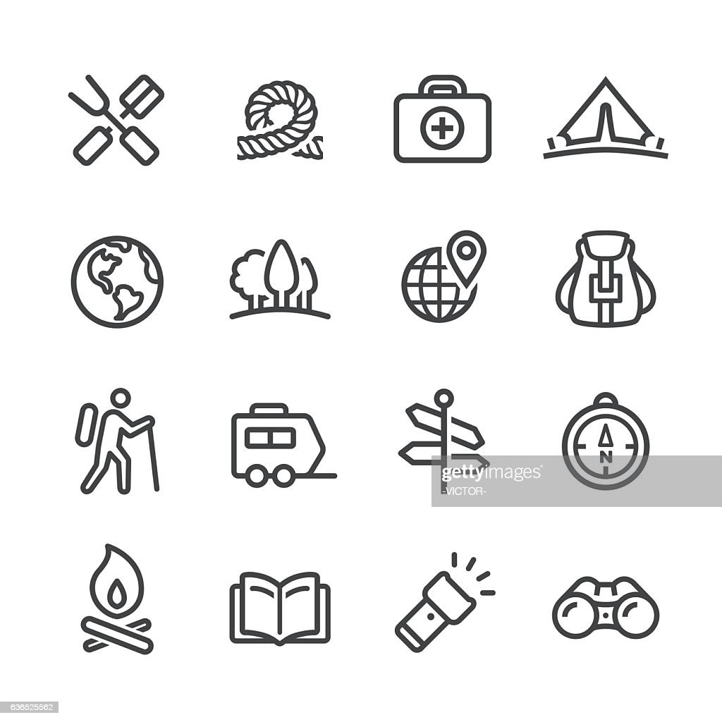 Camping and Outdoor Icon - Line Series