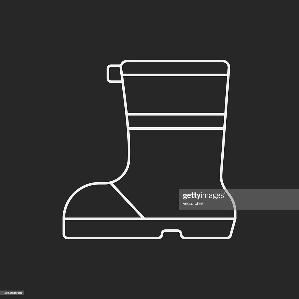 camping boot line icon : Vector Art