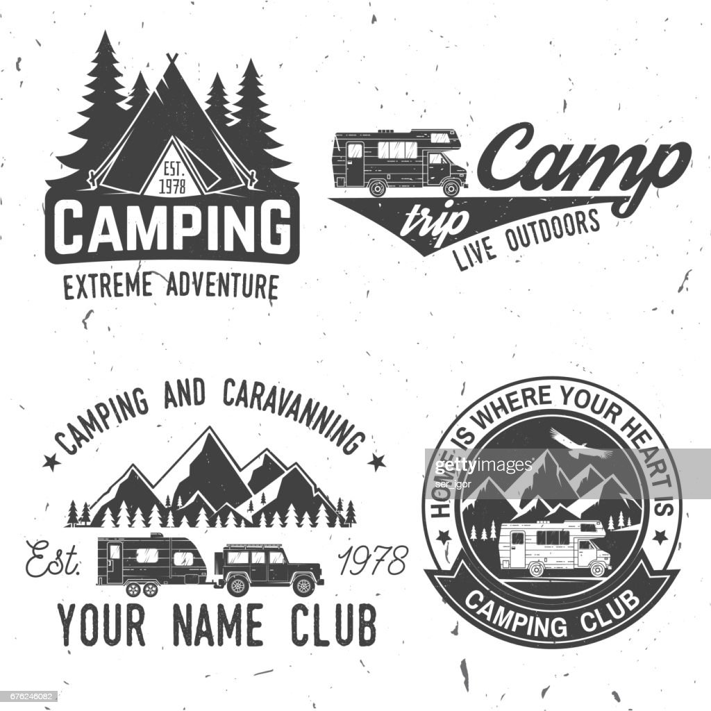 Camping extreme adventure . Vector illustration