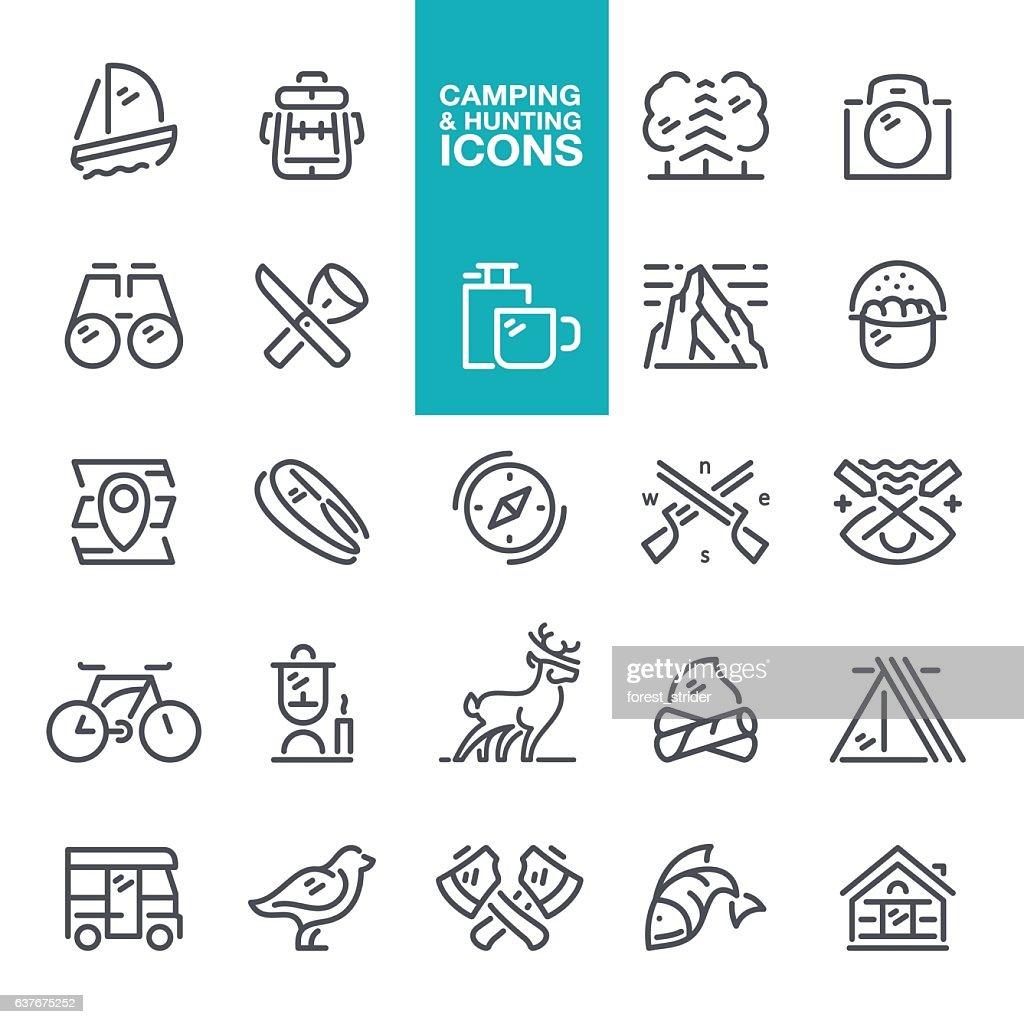 Camping & Hunting icons