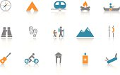 Camping Icon Set - Blue