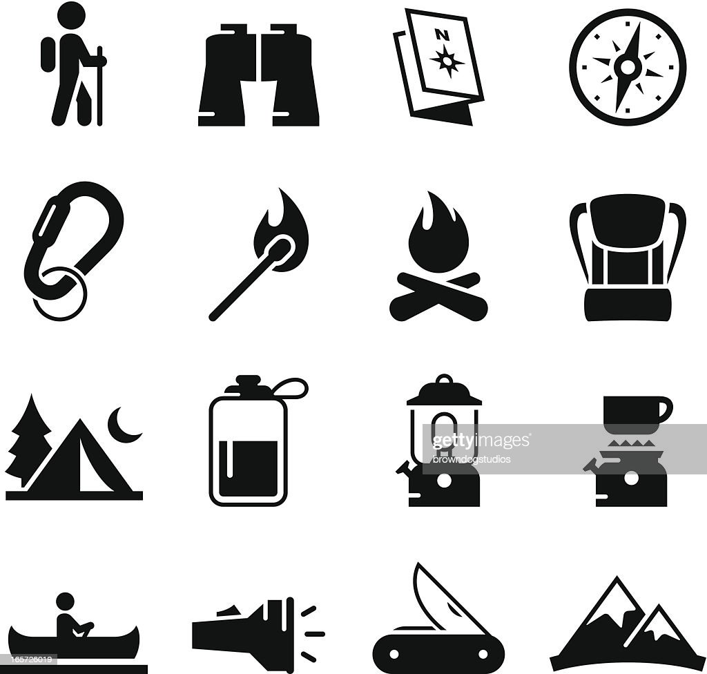 Camping Icons - Black Series