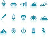 Camping Icons | Simple Blue Series