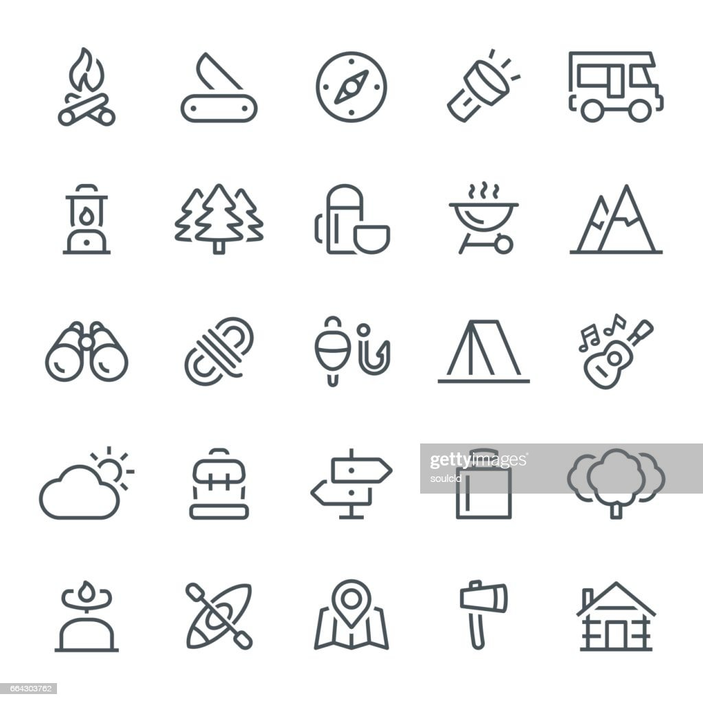 Camping Icons : stock illustration