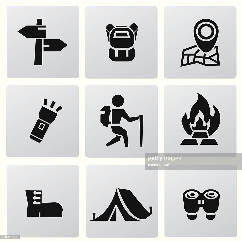 Camping icons,vector