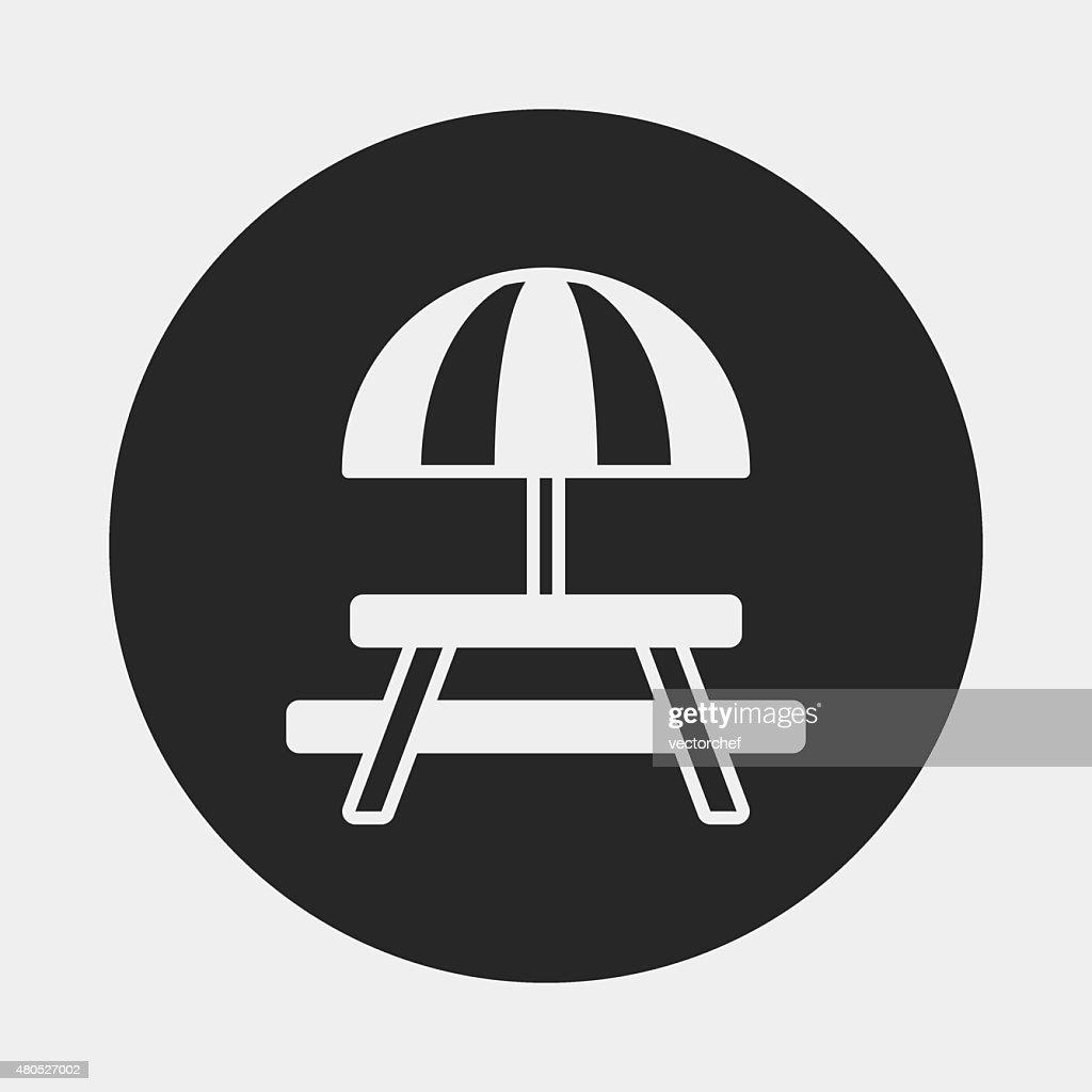 Camping Tische Symbol : Vektorgrafik