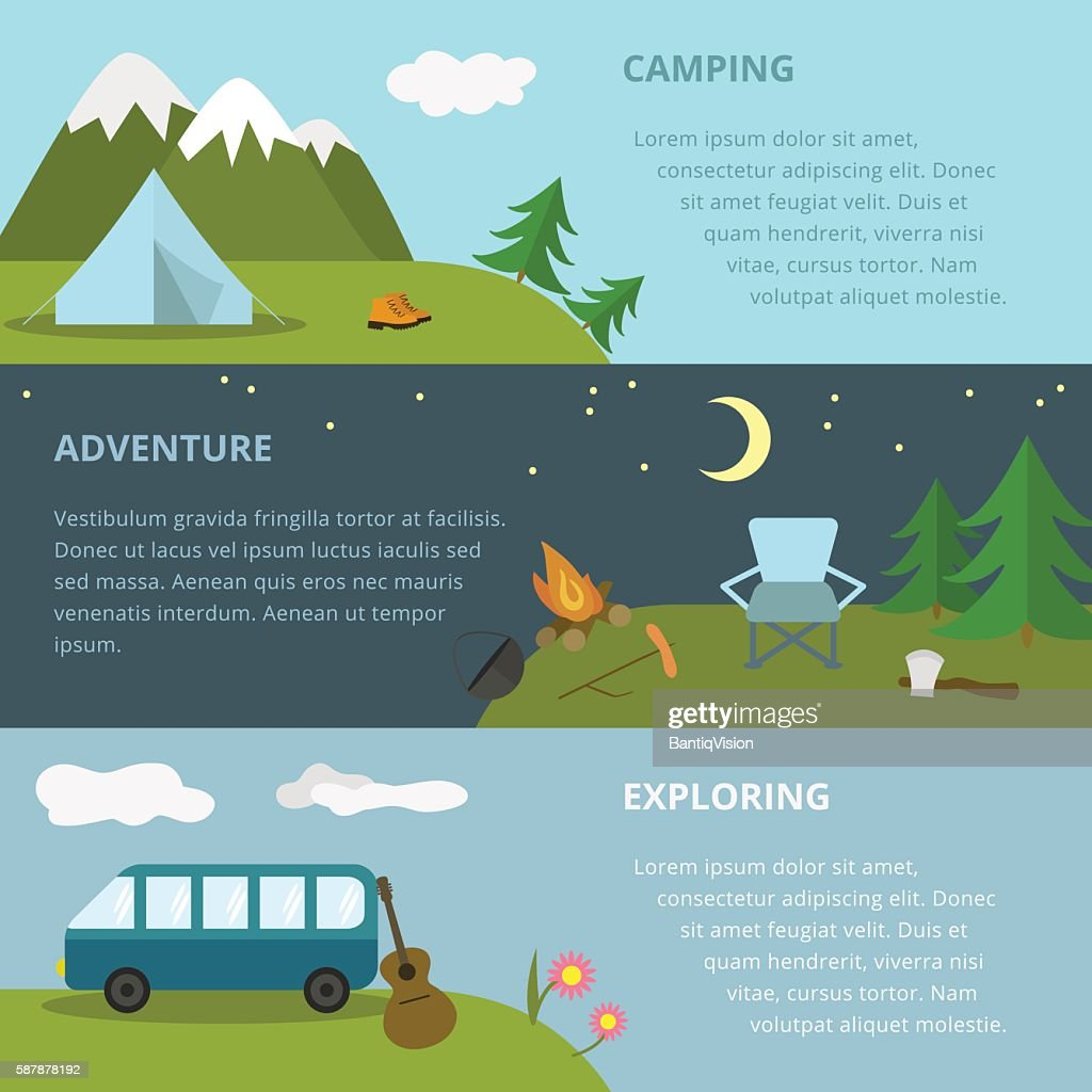 Camping template.
