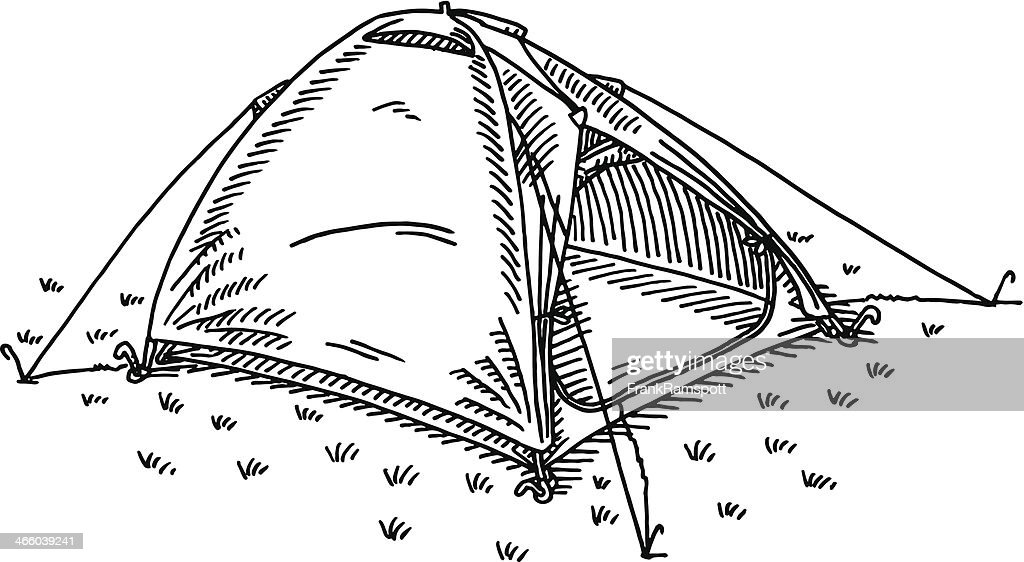 C&ing Tent Drawing  Vector Art  sc 1 st  Getty Images & Camping Tent Drawing Vector Art | Getty Images