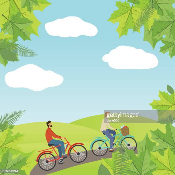 115 Velo Campagne Illustrations Getty Images