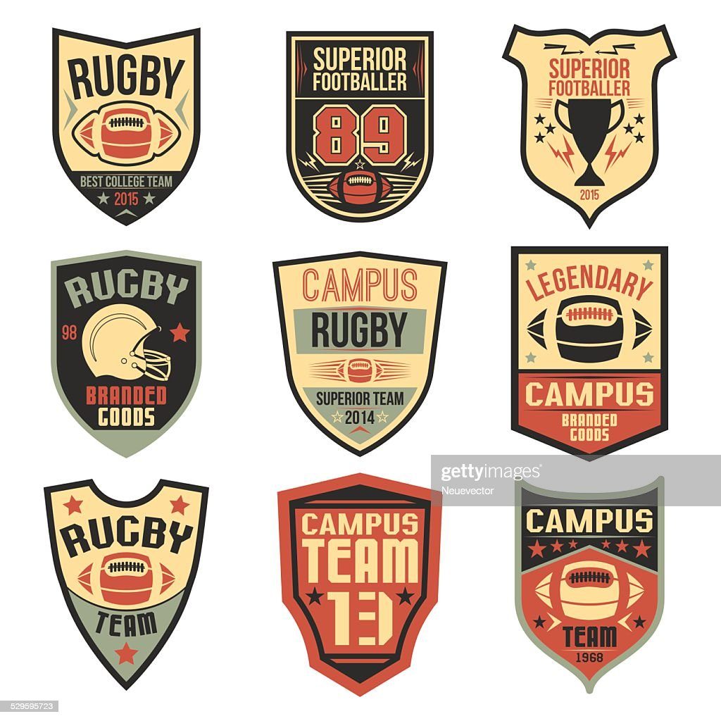 Campus rugby team emblems