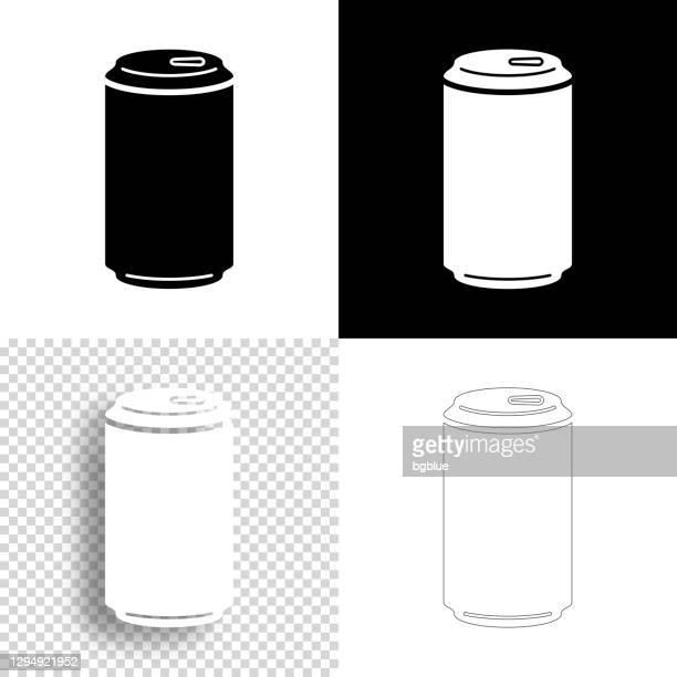 デザインのためのアイコン。空白、白、黒の背景 - ラインアイコン - キャニスター点のイラスト素材/クリップアート素材/マンガ素材/アイコン素材