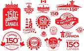 Canada 150 year anniversary label designs
