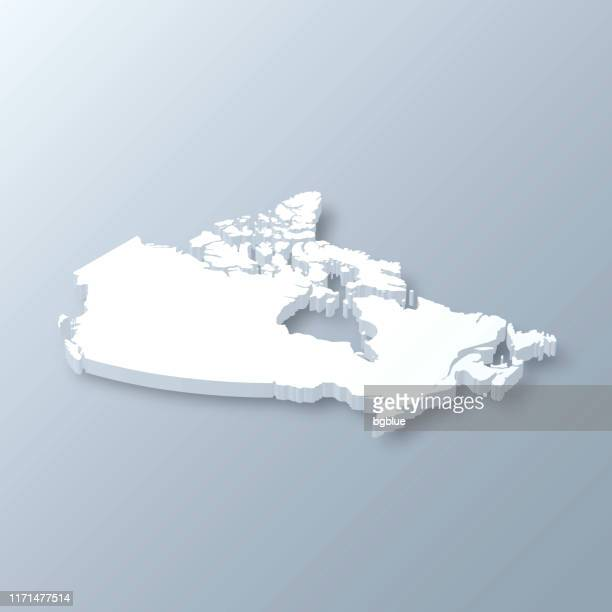 canada 3d map on gray background - canada stock illustrations