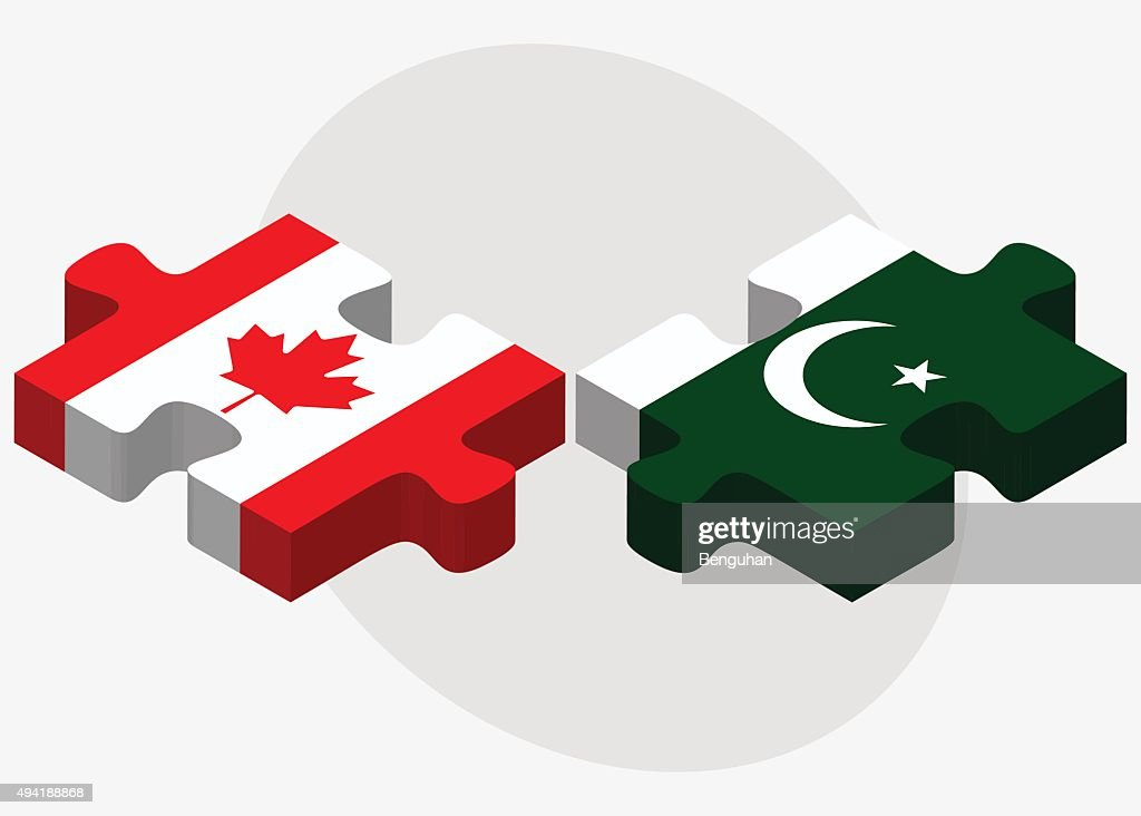 Canada and Pakistan Flags