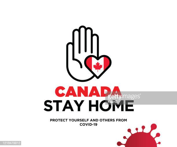 canada concept, wuhan coronavirus outbreak influenza as dangerous flu strain cases as a pandemic concept banner flat style illustration stock illustration - illness prevention stock illustrations