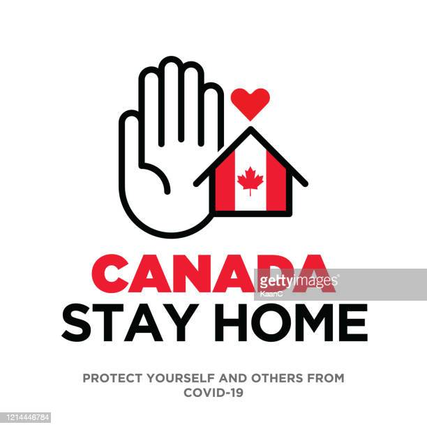canada concept, wuhan coronavirus outbreak influenza as dangerous flu strain cases as a pandemic concept banner flat style illustration stock illustration stock illustration - illness prevention stock illustrations