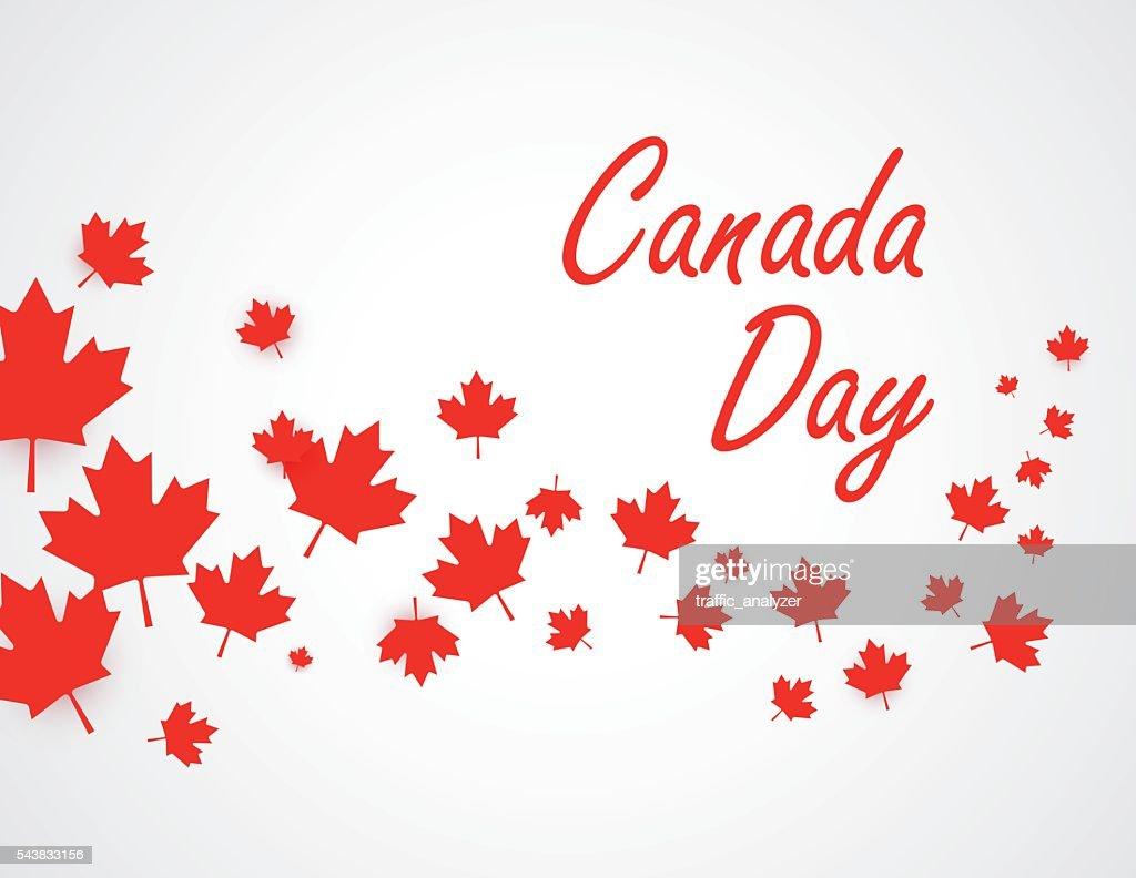 Canada Day Hintergrund : Stock-Illustration