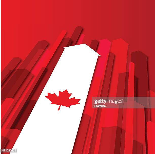 canada day background[arrows and maple leaf] - canadian flag stock illustrations, clip art, cartoons, & icons