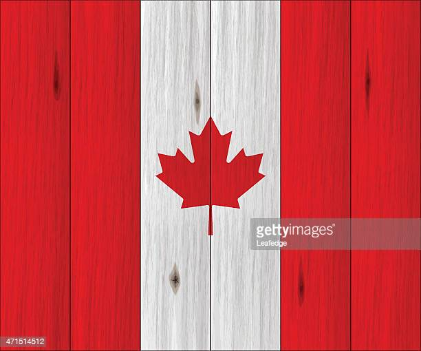 canada day background[wood board canada flag] - canada day stock illustrations
