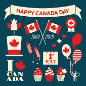 Canada Day Design Elements Set