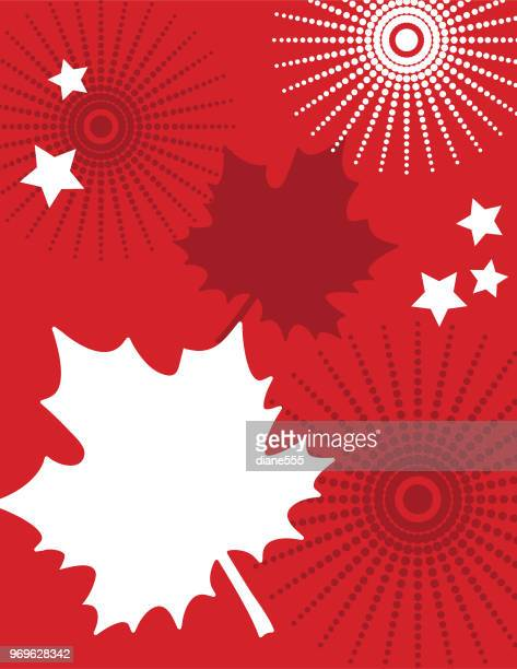 canada day invitation template with doodled elements - canada day stock illustrations