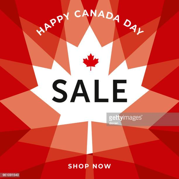 canada day sale special offer template for business, promotion and advertising - canada day stock illustrations